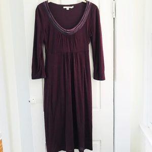 Boden Sz 2 Purple Knit 3/4 Sleeved Dress